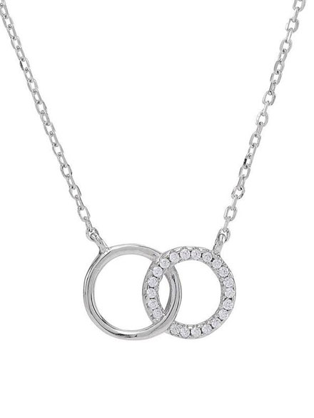 NORDAHL und JOANLI Nor Jewellery Kette Anna Double Circle, Silber