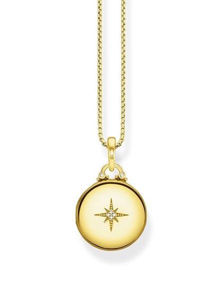 Thomas Sabo Kette Medaillon Gold Rund