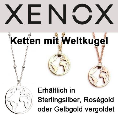 XENOX Schmuck - Kette mit Weltkugel